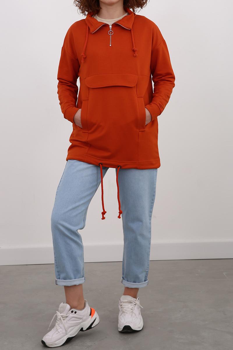 Bağcık Detaylı Sweatshirt