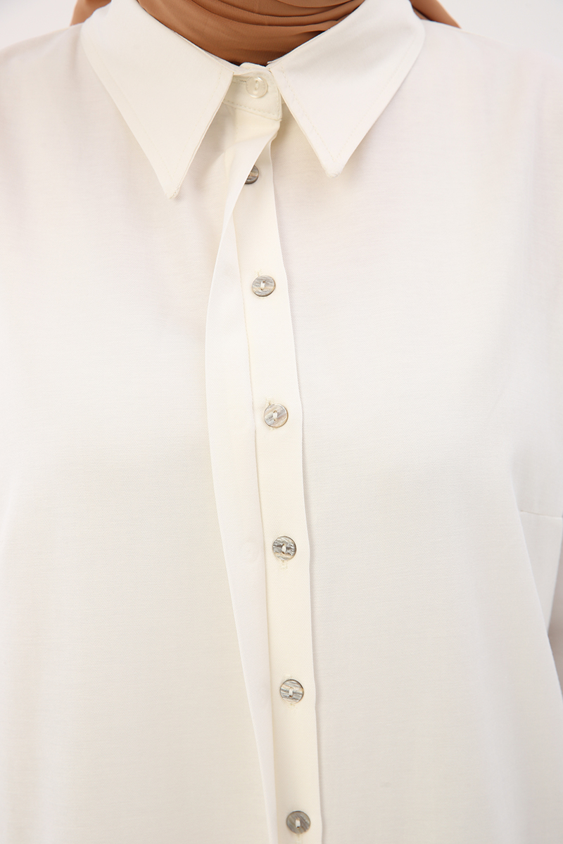 Patlı Basic Gömlek Tunik