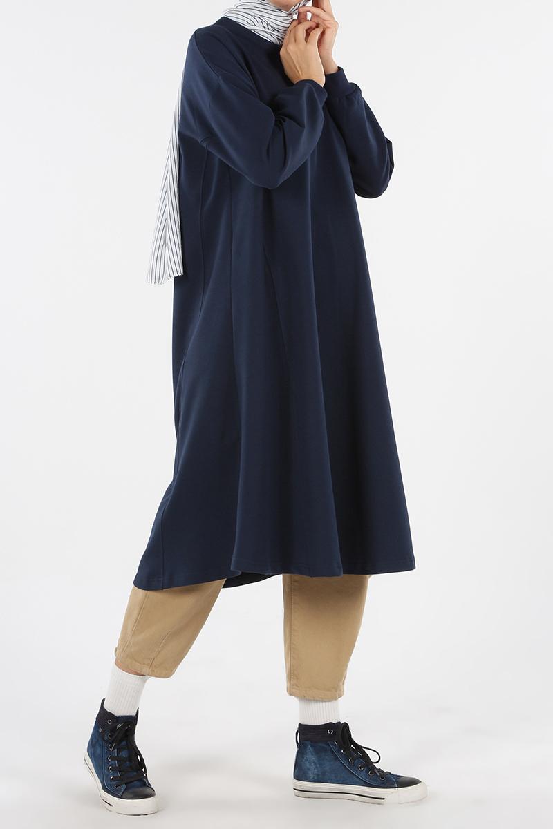 Kolları Ribanalı Basic Kloş Tunik