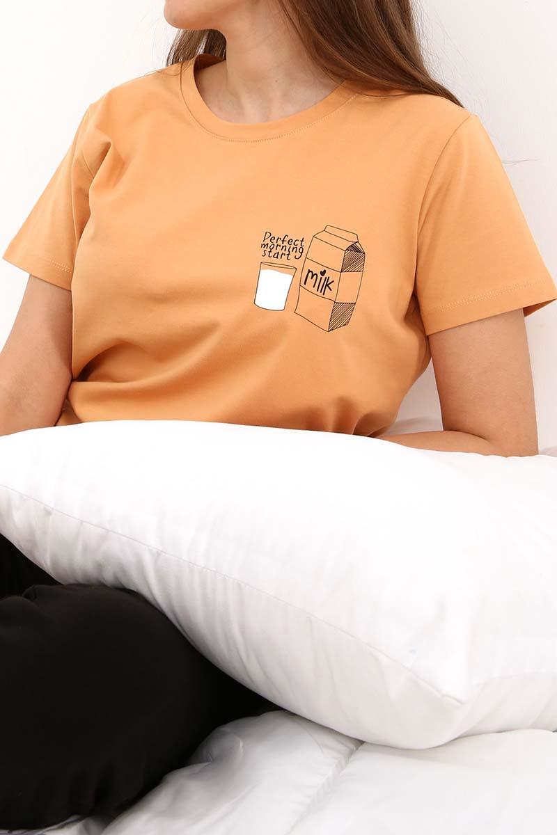 Baskılı Kısa Kollu Pijama Takımı