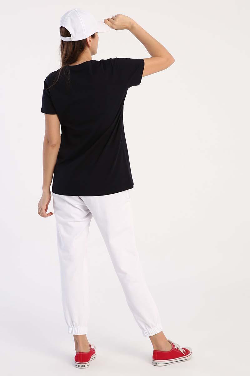Baskılı Kısa Kollu Penye T-Shirt