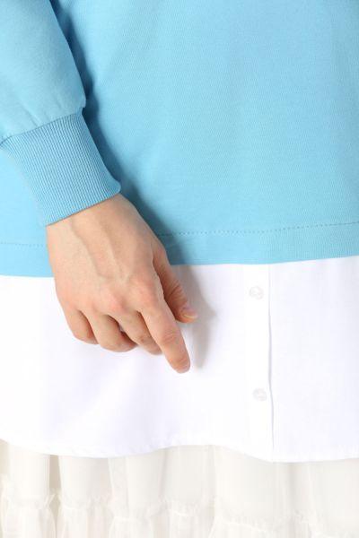 Garnili Baskılı Sweatshirt