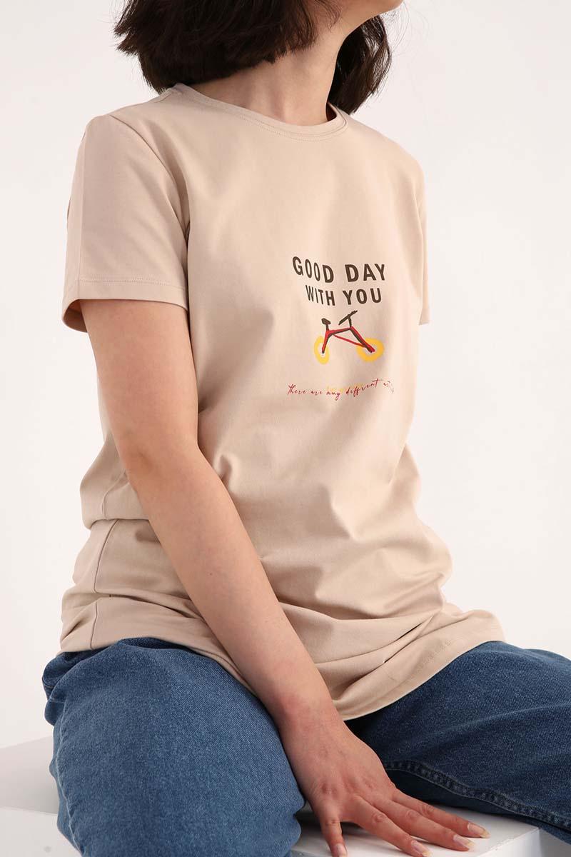 Baskılı Kısa Kollu T-Shirt Tunik