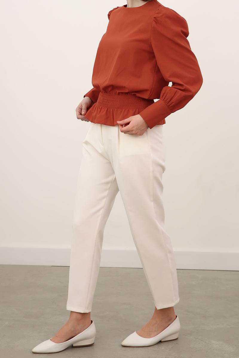 Bel Büzgülü Bluz