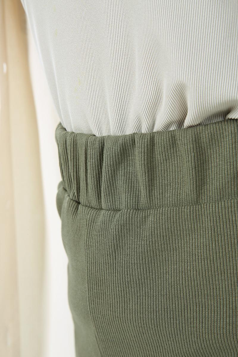 Bel Lastikli Fitilli Pantolon