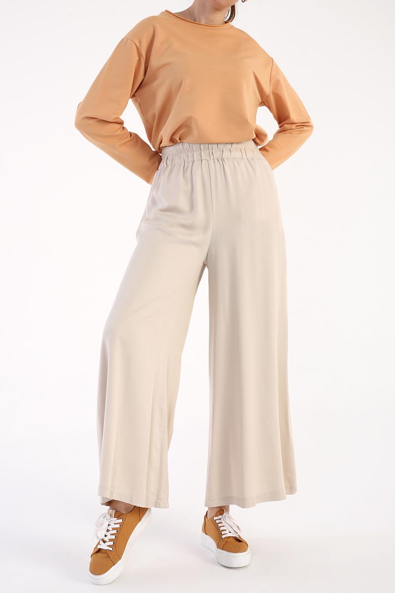 Beli Lastikli Salaş Pantolon