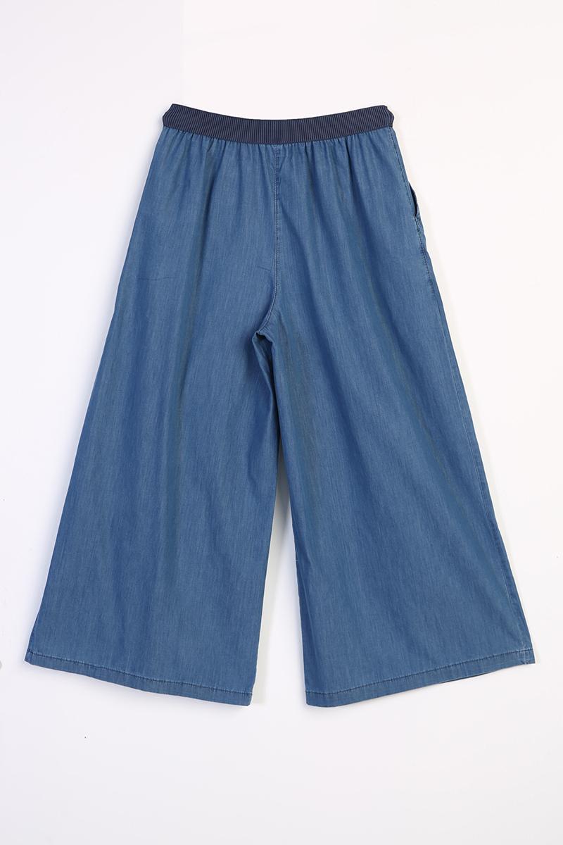 Beli Lastikli Bol Paça Pantolon