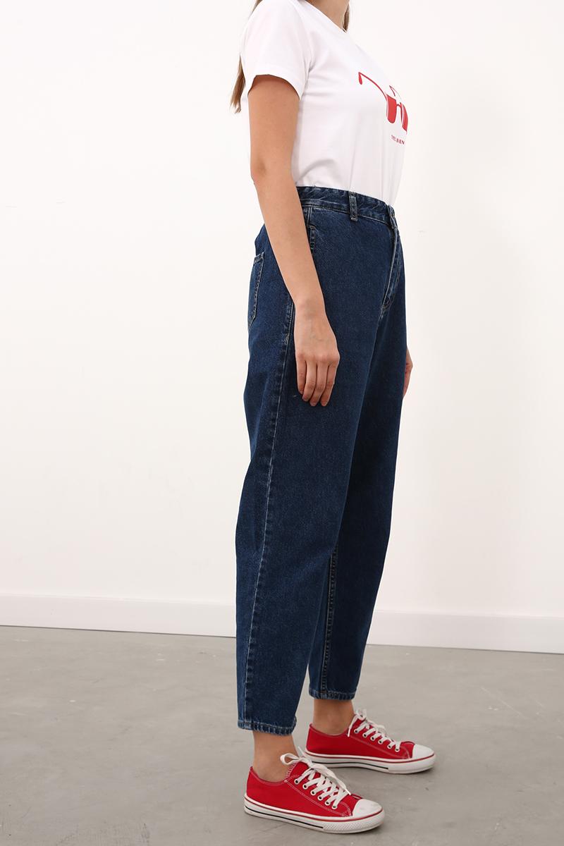 Beli Lastikli Mom Pantolon