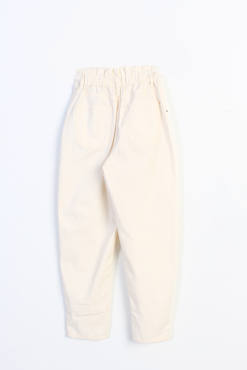 Beli Lastikli Pamuklu Pantolon