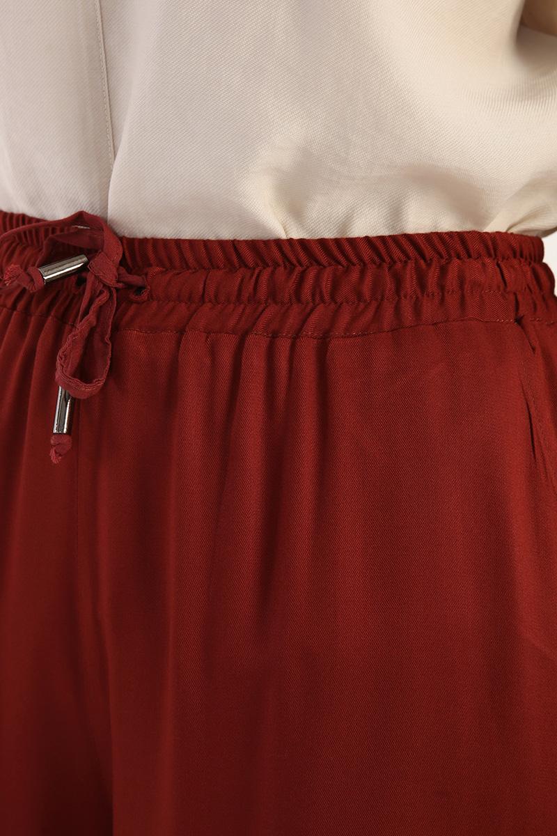 Viskon Beli Lastikli Pantolon