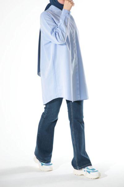 Büyük Beden Basic Gömlek Tunik