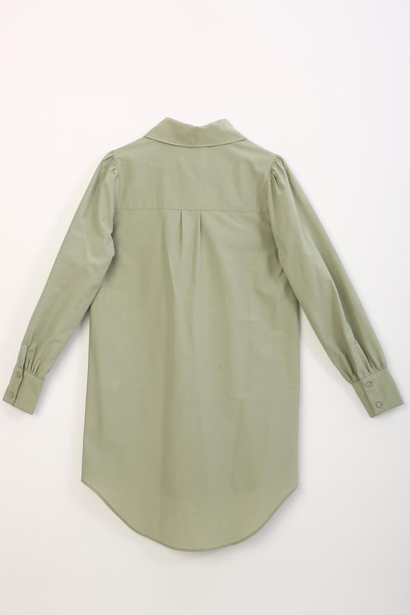 Büzgü Detaylı Gömlek Tunik