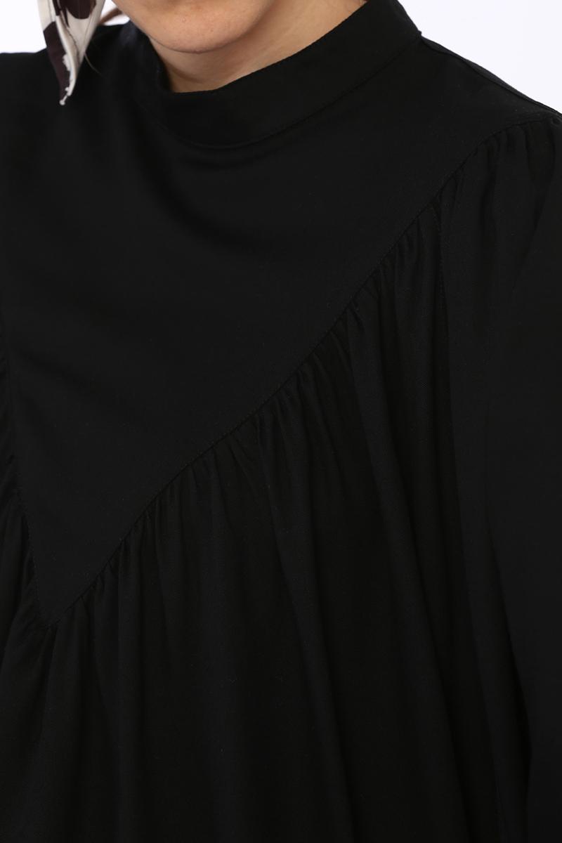 Büzgülü Salaş Viskon Bluz