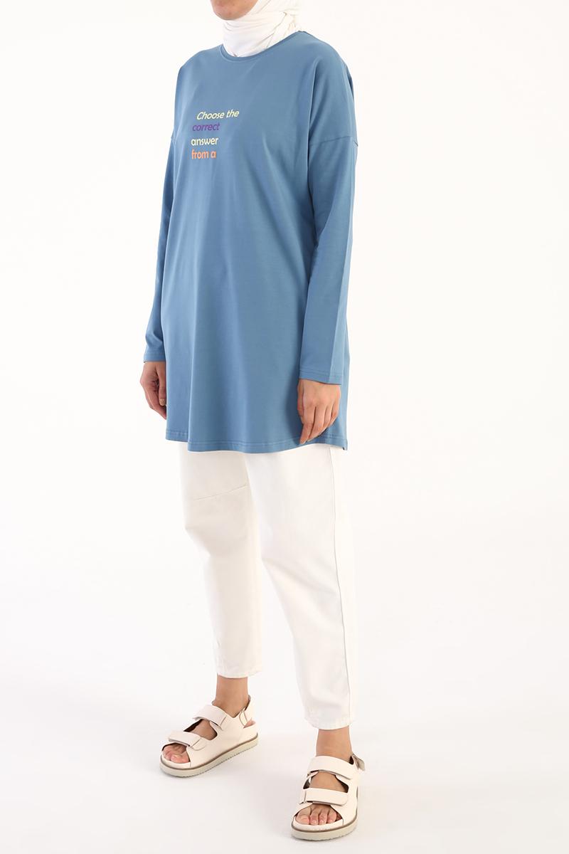 Choose Correct Baskılı Uzun Kollu T-Shirt Tunik