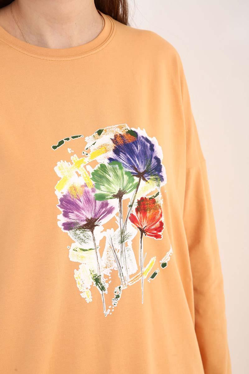 Çiçek Baskılı Tunik