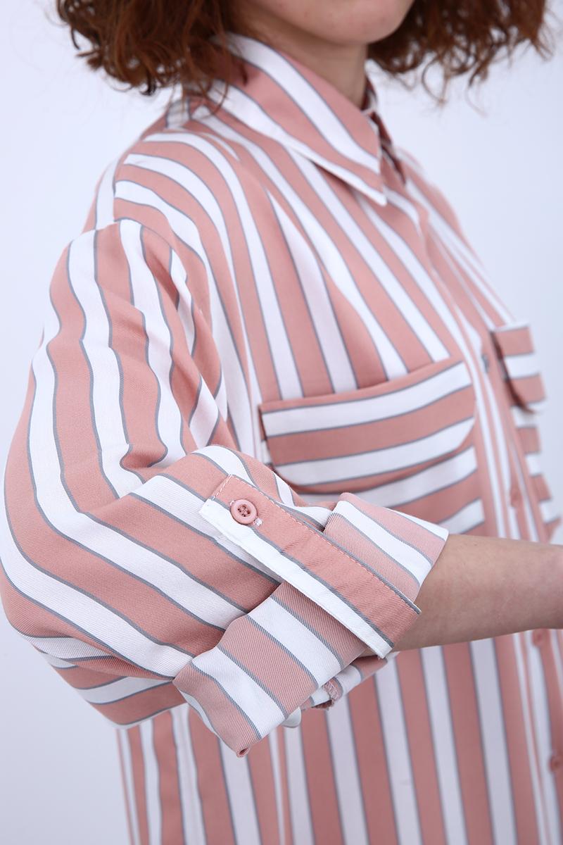 Çift Cepli Gömlek Tunik