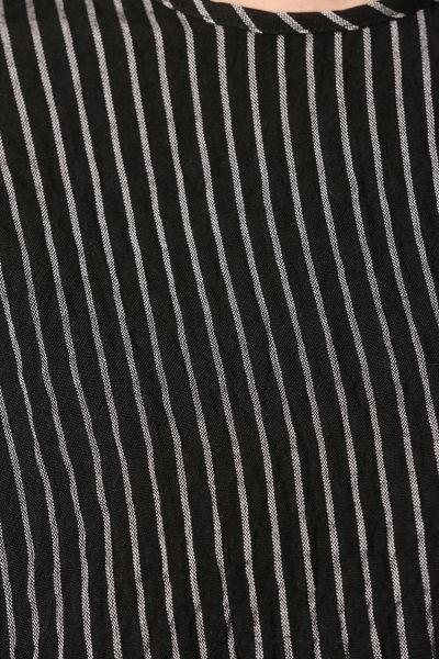 T-Kol Çizgili Pantolonlu İkili Takım