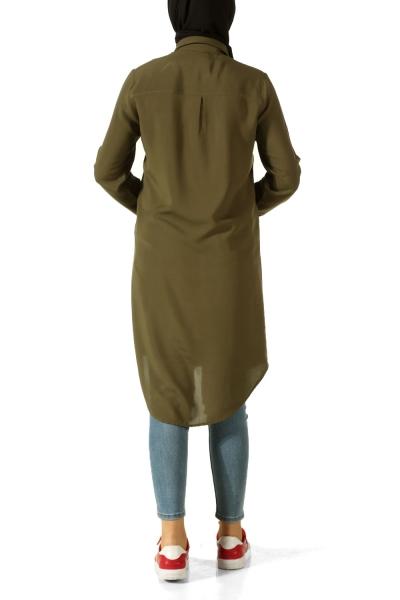 Dantel Robalı İncili Gömlek Tunik