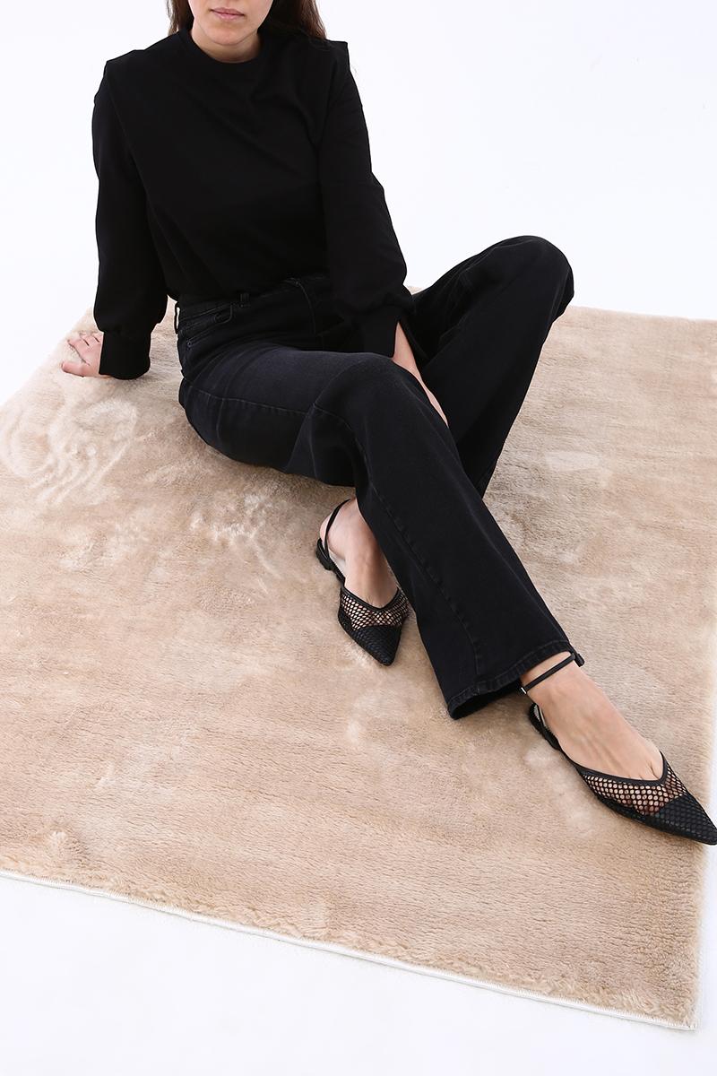 Yüksek Bel Bol Paça Kot Pantolon