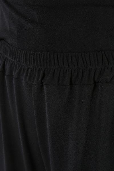 Deri Detaylı Pantolonu Lastikli İkili Takım