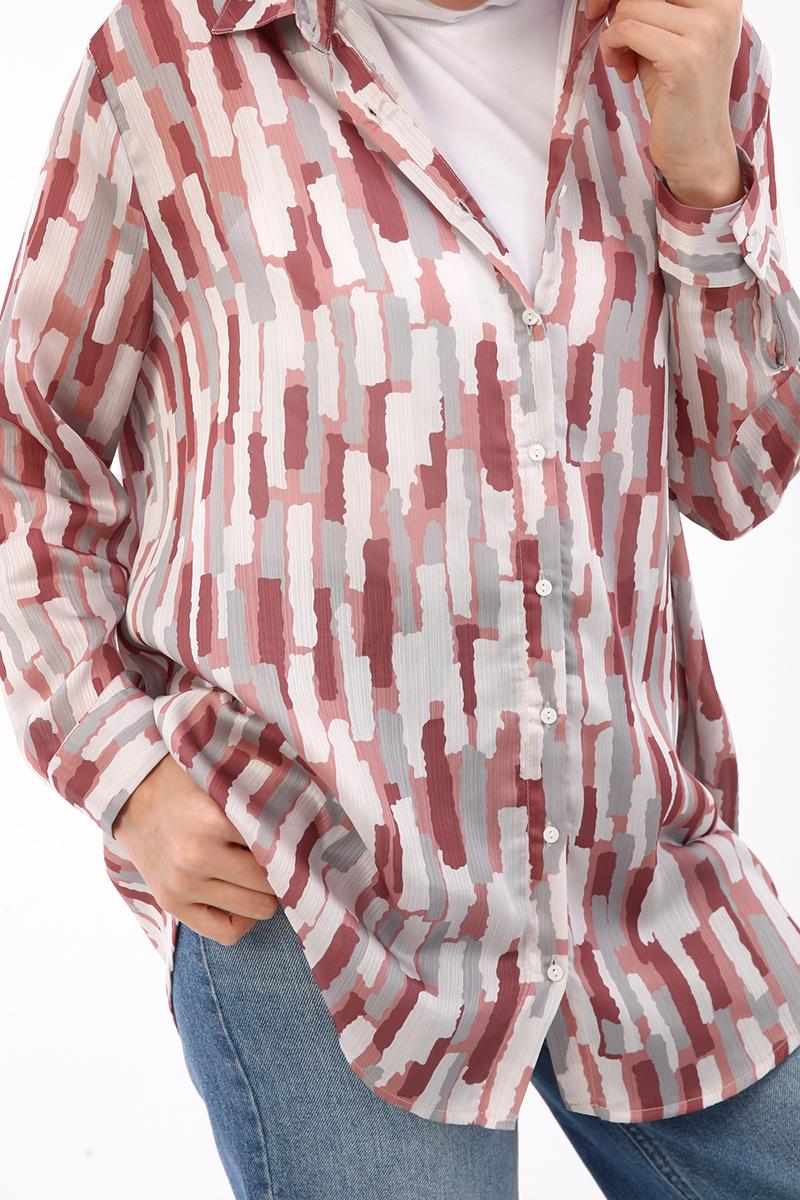 Desenli Gömlek Tunik