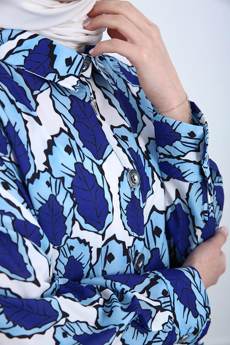 Desenli Salaş Gömlek Tunik