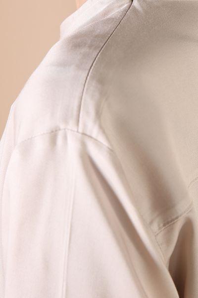 Viskon Arkası Pileli Önden Bağlamalı Tunik