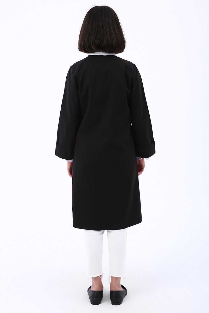 Duble Kol Düğmeli Ceket