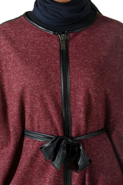 Fermuarlı Kuşaklı Panço