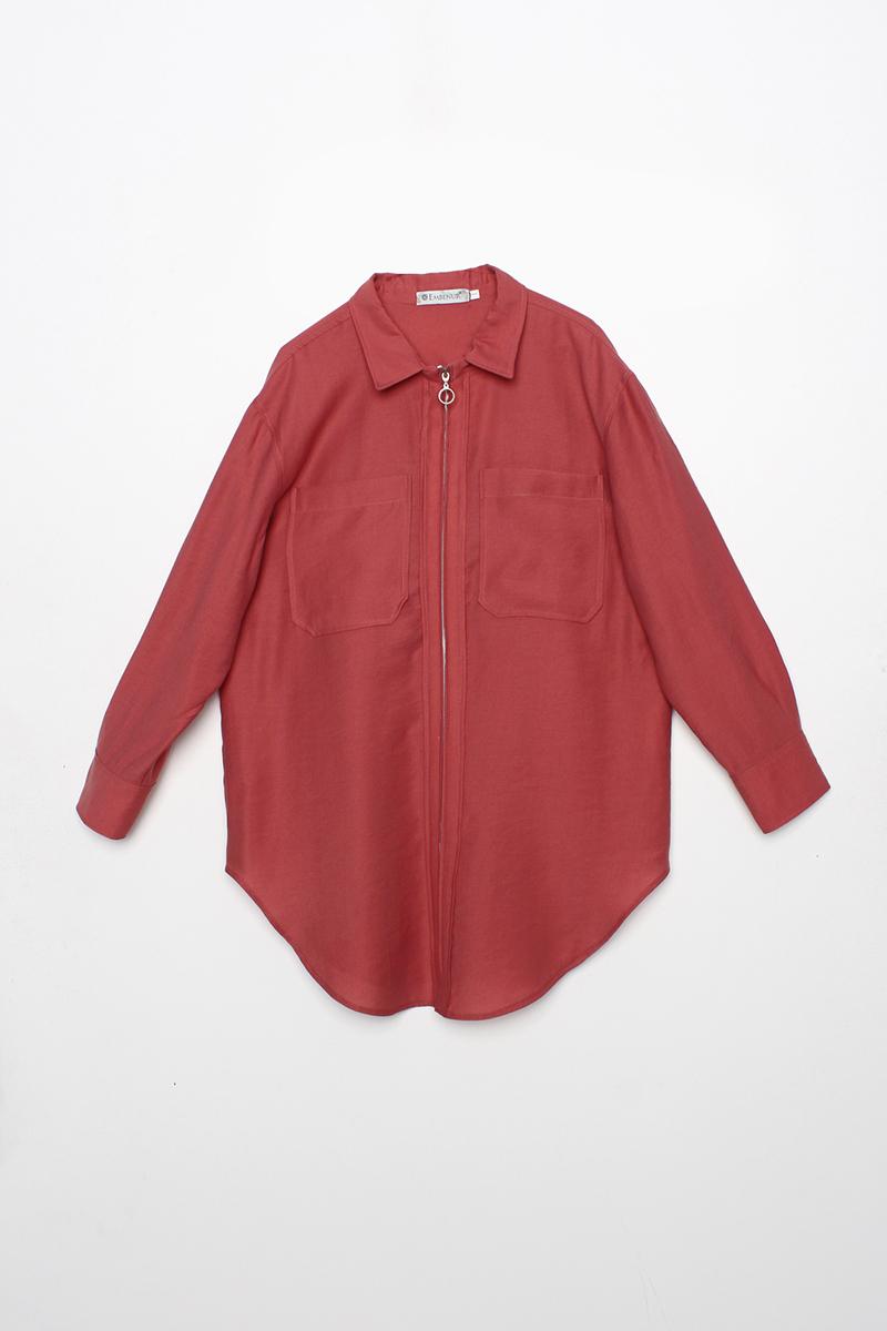Fermuarlı Tensel İnce Ceket