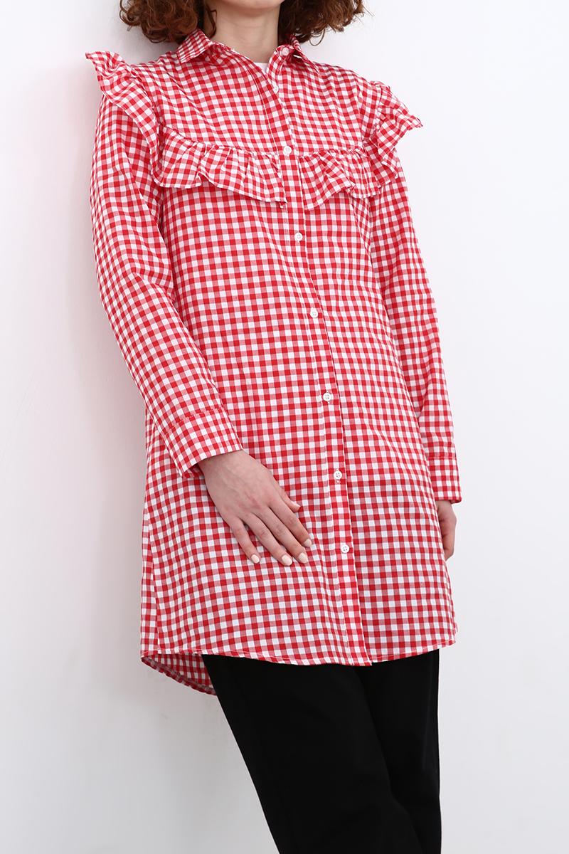 Fırfır Detaylı Gömlek Tunik