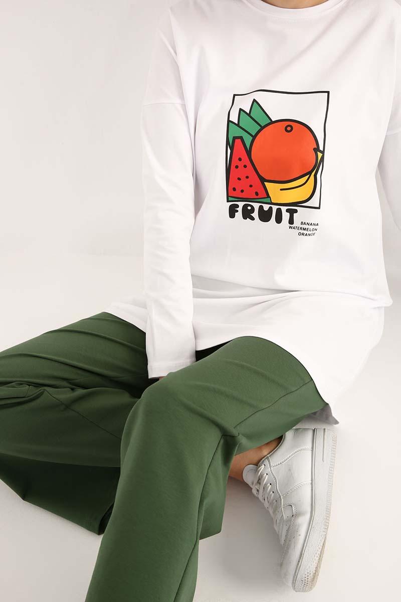 Fruit Baskılı T-Shirt Tunik