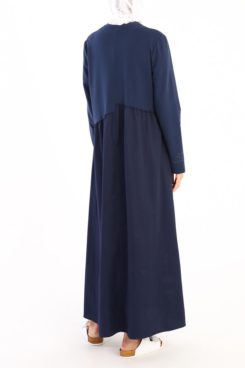 Garnili Cep Detaylı Elbise