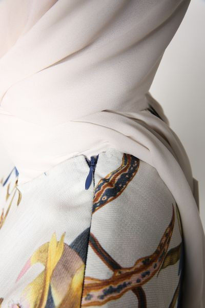 Tensel Desenli Pantolonlu İkili Takım