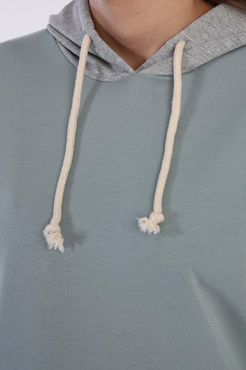 Garnili Kapüşonlu Sweatshirt