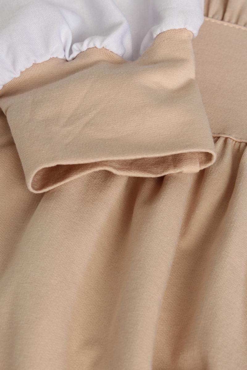 Garnili Kol Detaylı Penye Elbise