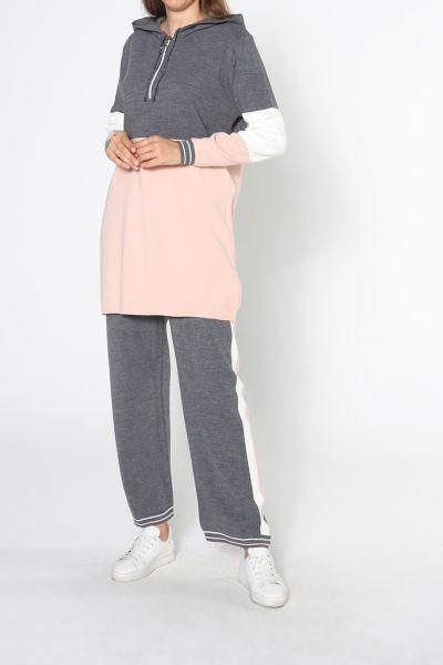 Garnili Pantolonlu İkili Triko Takım