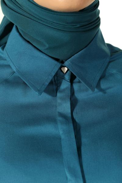 Gizli Patlı Reglan Kol Gömlek Tunik