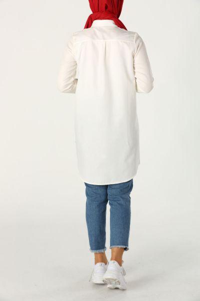 Gizli Patlı Basic Gömlek Tunik