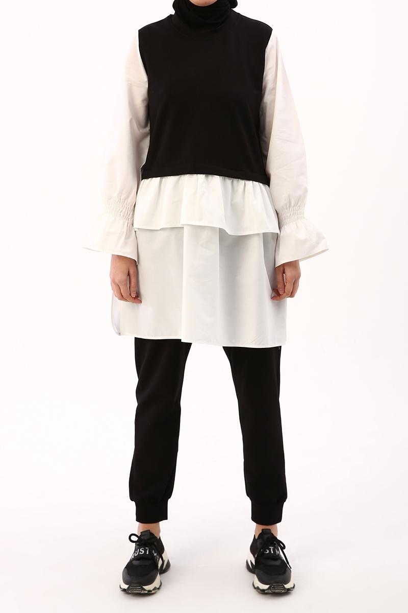 Gömlek Garnili Pantolonlu Takım