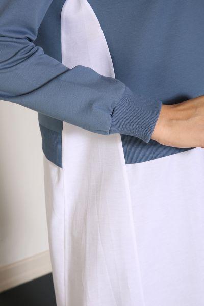 Yarece Gömlek Garnili Düğmeli Sweat Tunik