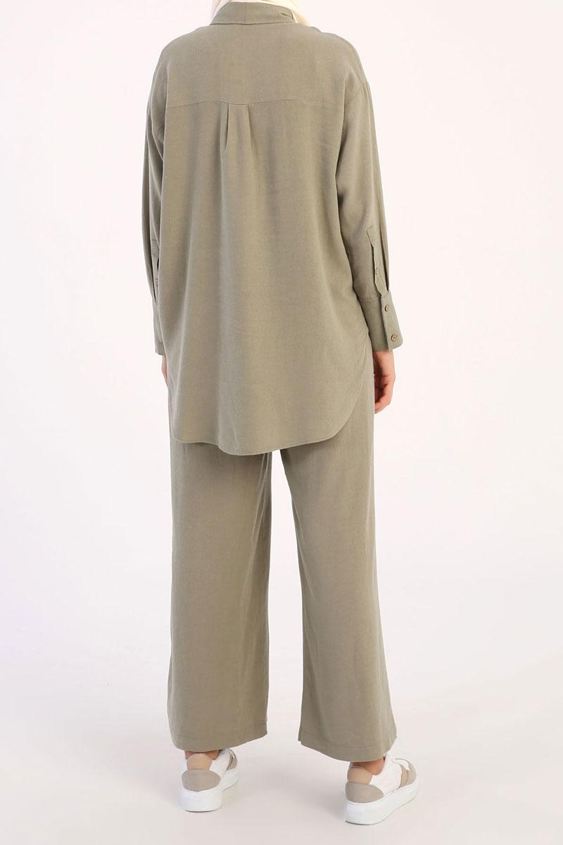 Gömlekli Pantolonlu Takım
