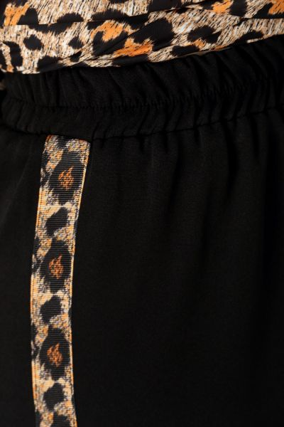 Leopar Desenli Pantolonlu İkili Takım