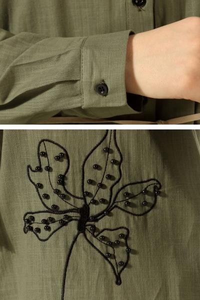 İncili Nakışlı Gömlek Tunik