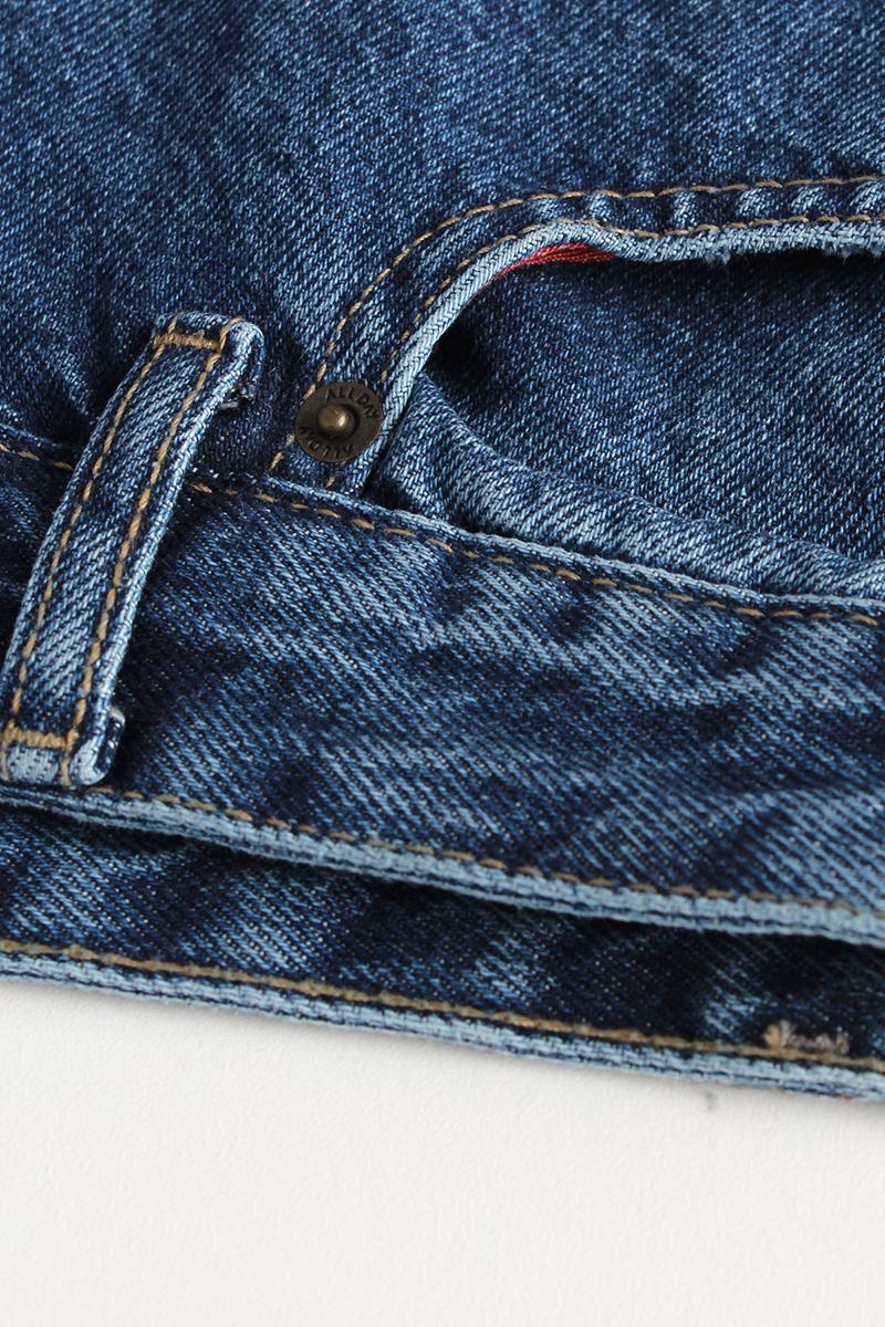 İspanyol Paça Düğmeli Cepli Denim Pantolon