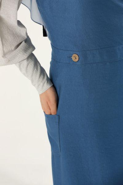 Düğmeli Jile Elbise