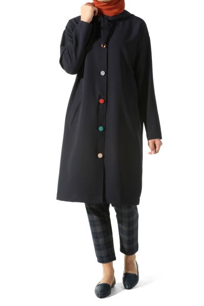 Kapüşonlu Uzun Ceket