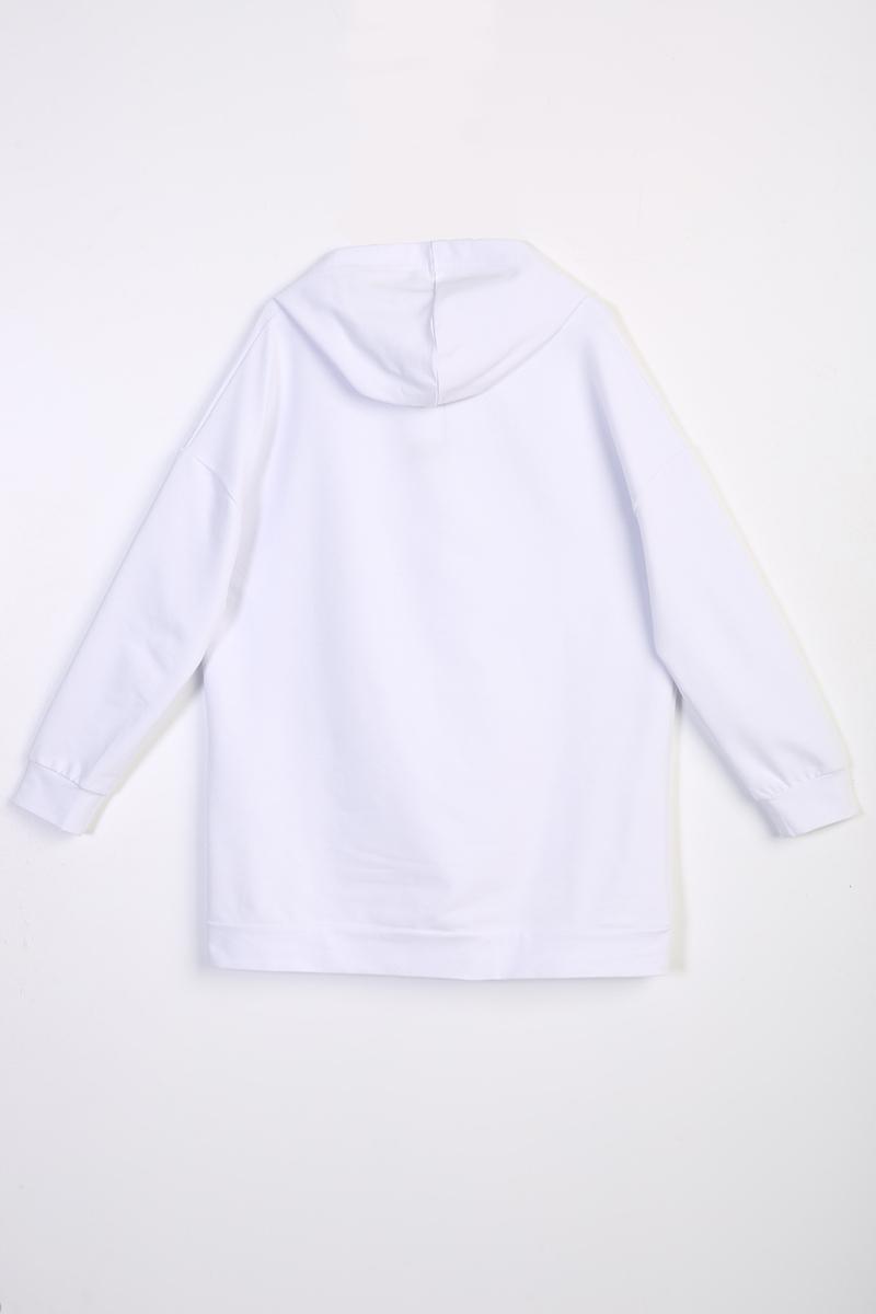 Kapüşonlu Basic Sweat Tunik
