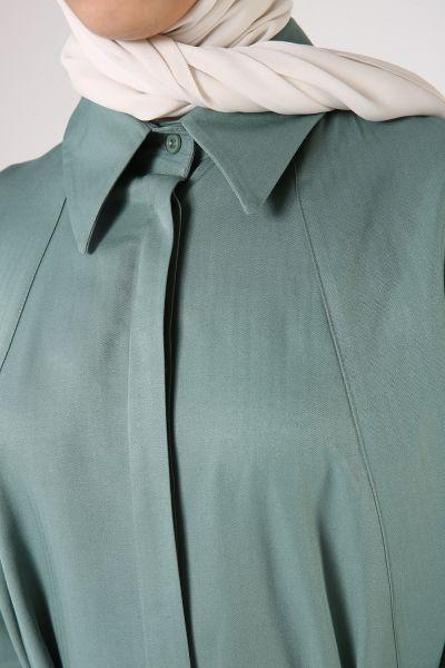 Kemerli Kloş Gömlek Tunik