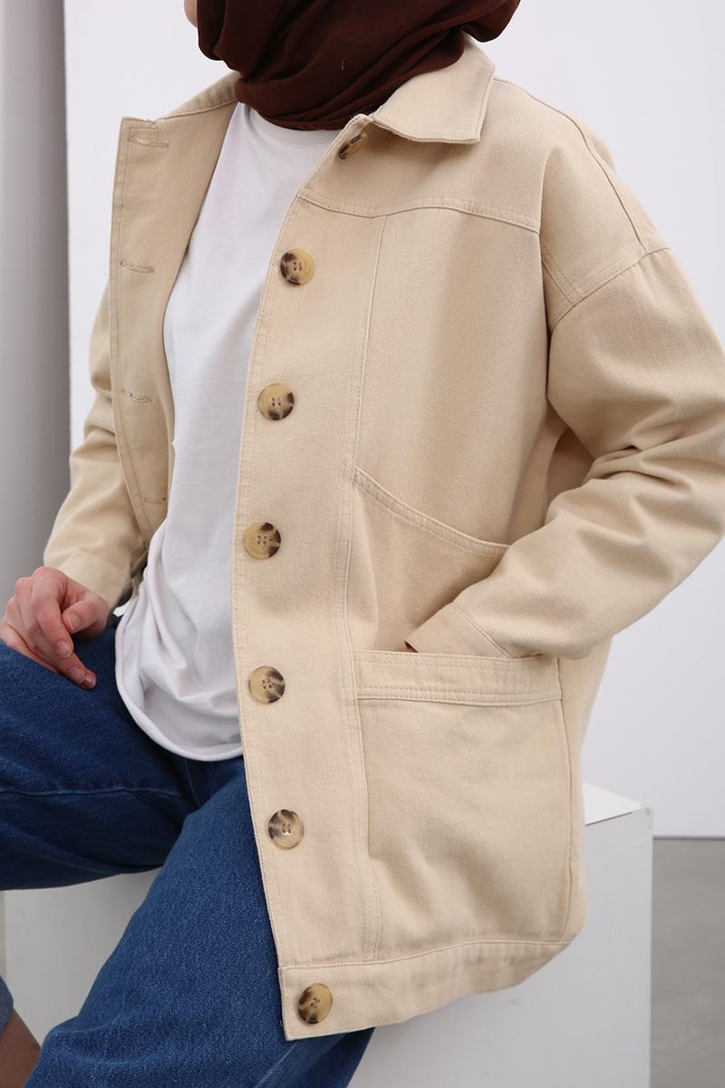 Kemik Düğmeli Ceket